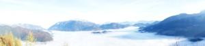 Wandern in den Berchtesgadener Alpen bietet Euch tolle Ausblicke, wie hier vom Grünstein.  Foto (c) kinderoutdoor.de